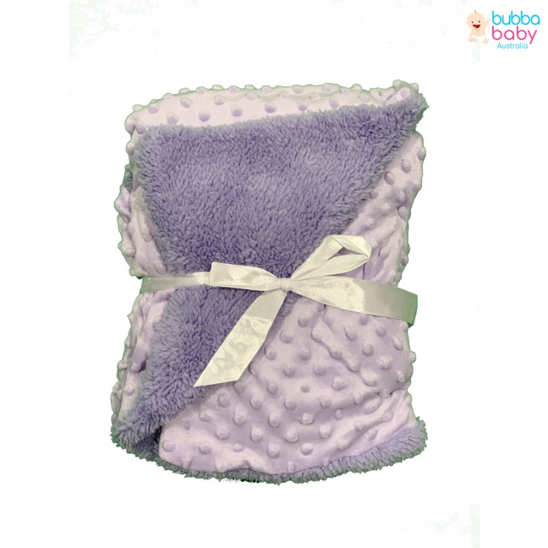 Purple Minky Dot Blanket