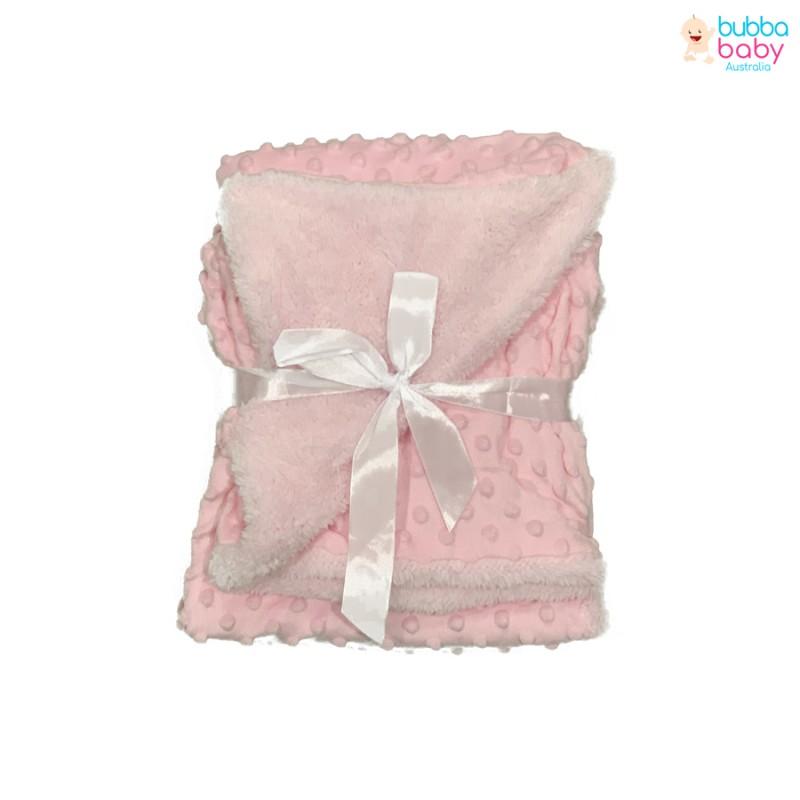 Baby Pink Minky Dot Blanket