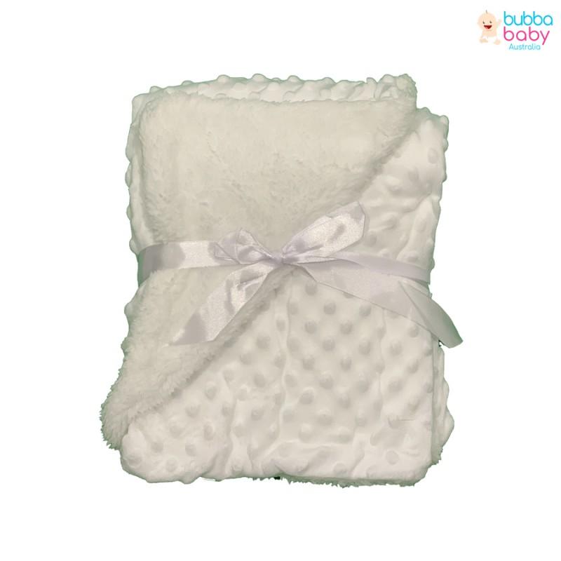 White Minky Dot Blanket