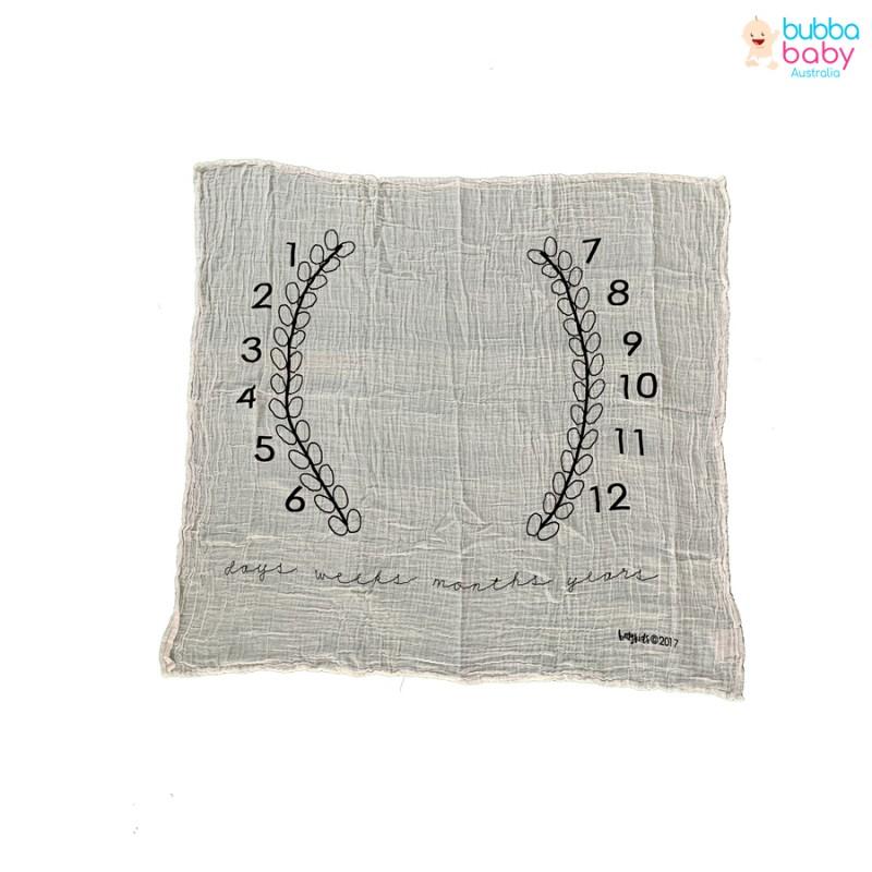 Fern Pattern Milestone Blanket