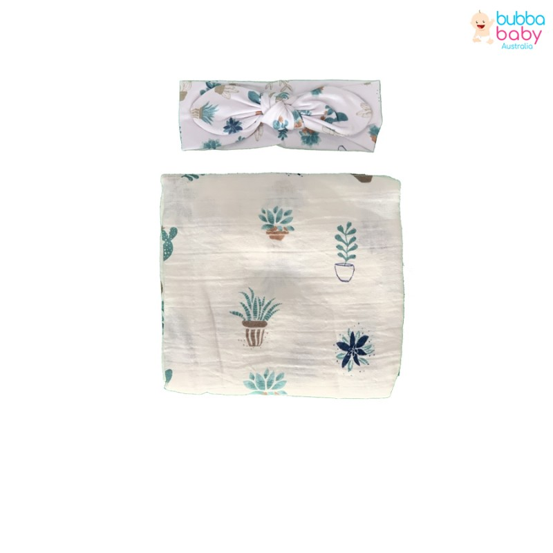 Cactus Pattern Swaddle and...