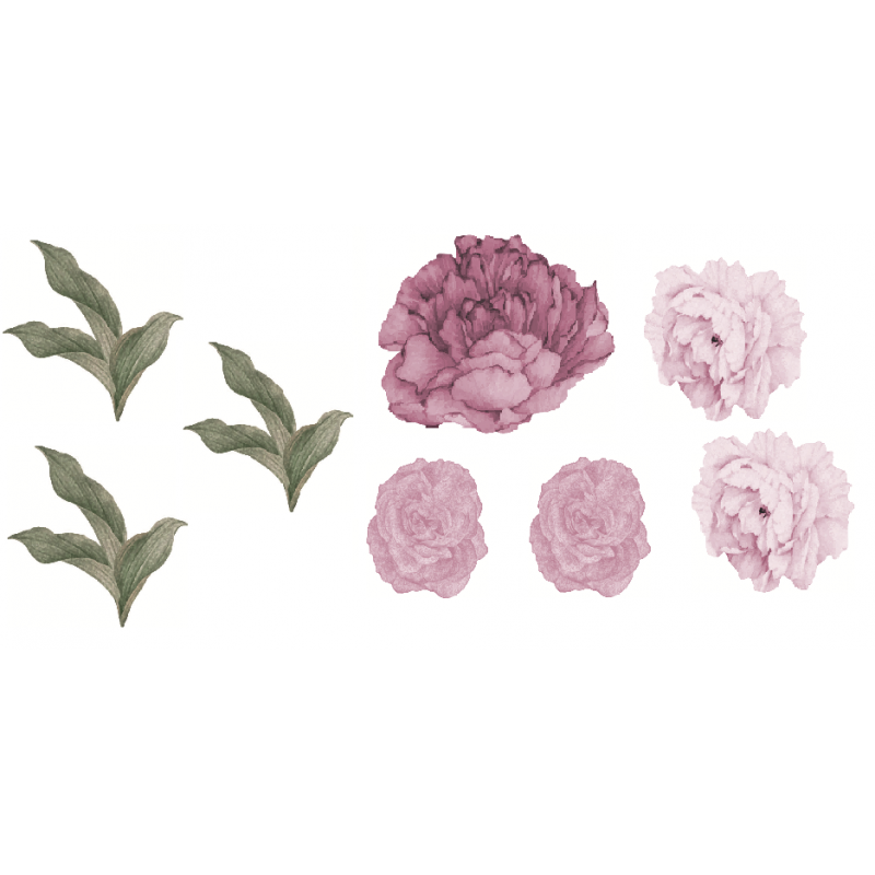 Pink Peony Flower Removable...